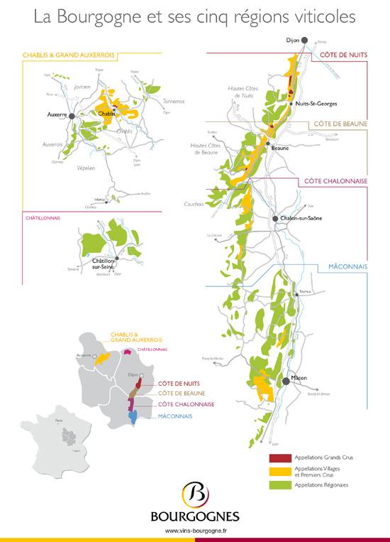 Carte Route Des Vins Bourgogne.Telechargement Vins De Bourgogne