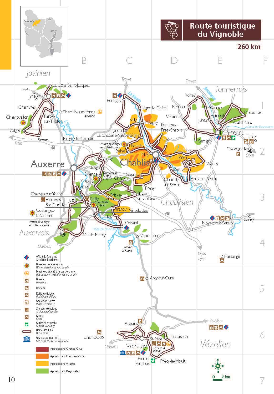 Route Des Vins Chablis Grand Auxerrois Et Chtillonnais