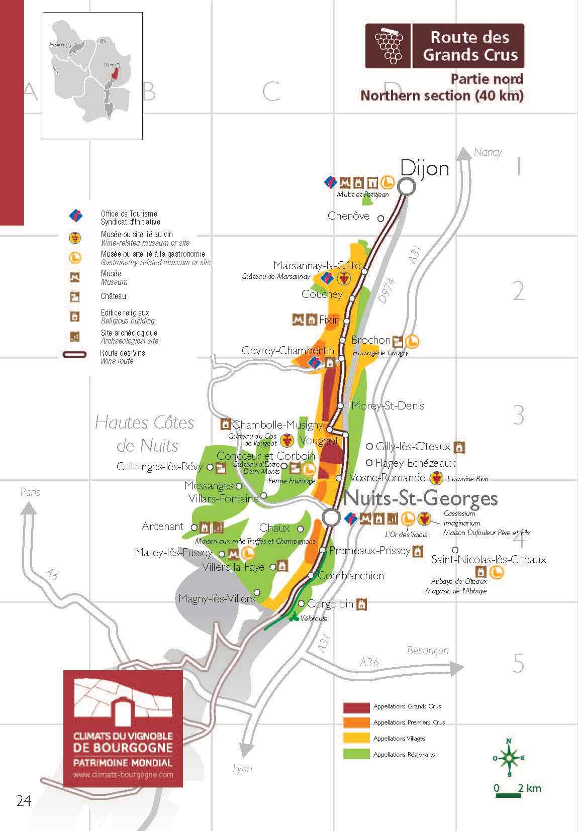 Carte Route Des Vins Bourgogne.Grande Route Des Vins Vivez Les Vins De Bourgogne En Cinq