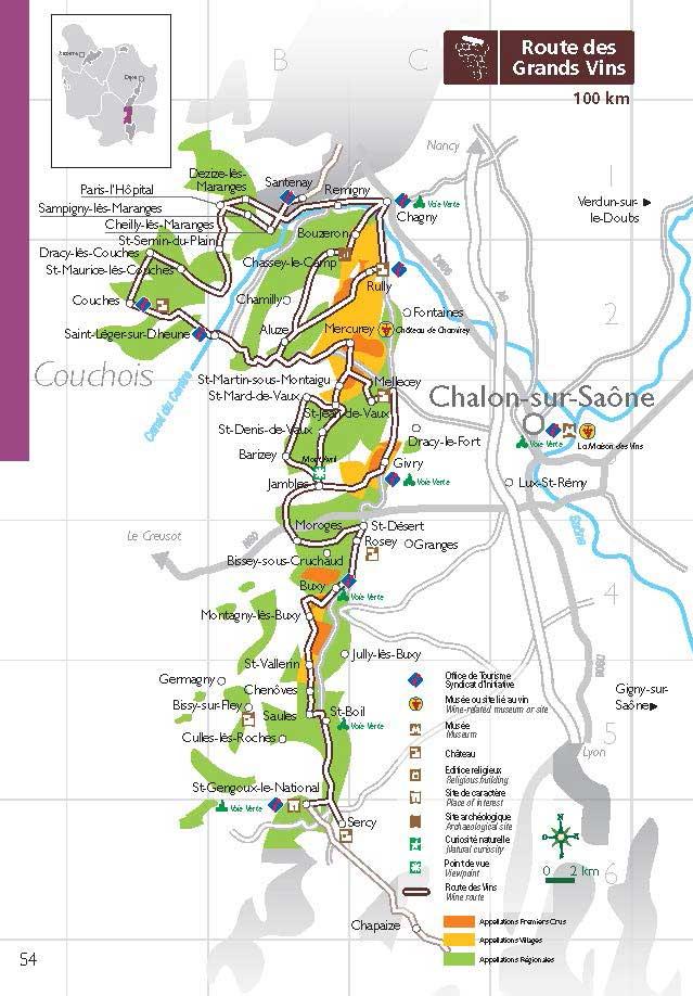 Route Des Vins De La Cte Chalonnaise Et Du Couchois