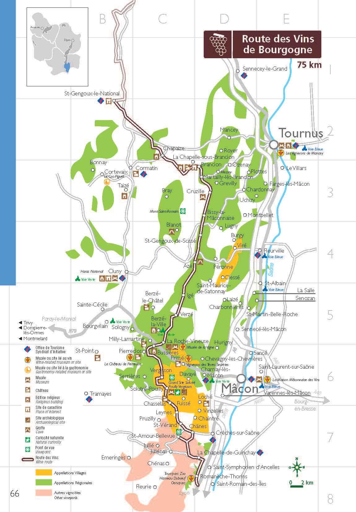 Carte Bourgogne Blanc.Grande Route Des Vins Vivez Les Vins De Bourgogne En Cinq Itineraires