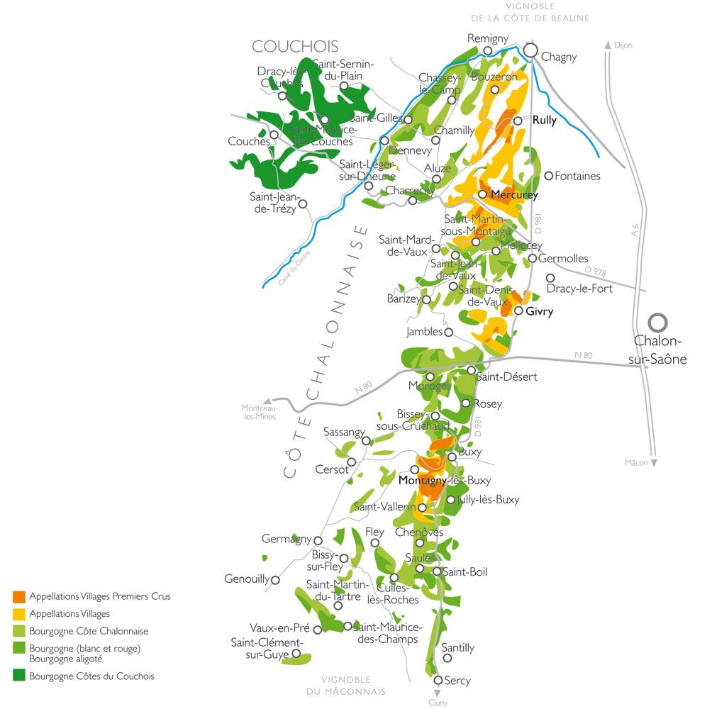 Carte De Bourgogne Route Des Vins.Bourgogne Cote Du Couchois Vins De Bourgogne